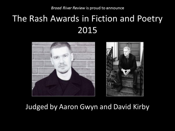 The Rash Awards in Fiction and Poetry 2015 - Website Banner