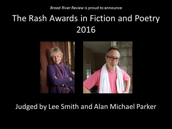 The Rash Awards in Fiction and Poetry 2016 - Website Banner