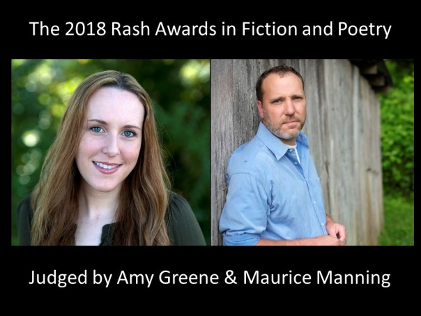 The Rash Awards in Fiction and Poetry 2018 - Web Site Banner